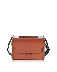 Brick Leather Trunk Bag w/Canvas Shoulder Strap - Marni