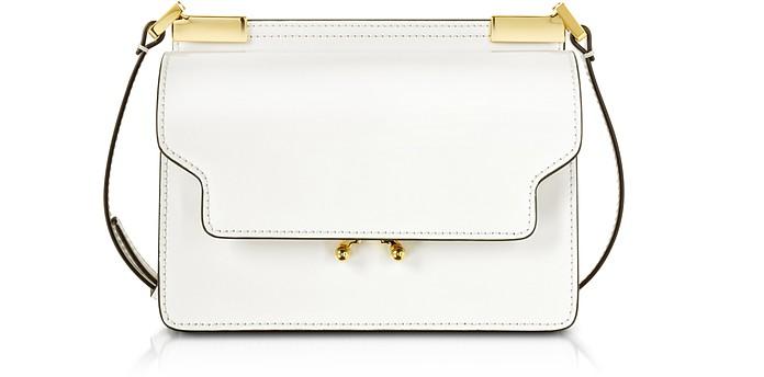 Pearl White Leather Trunk Bag - Marni