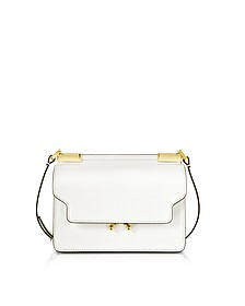 Pearl White Leather Trunk Bag - Marni
