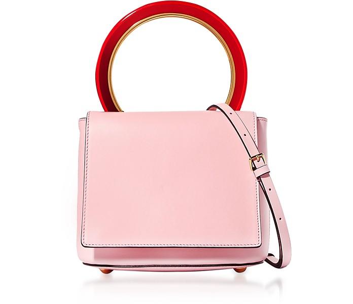 Pannier Bag in Pelle Rosa Pastello Marni kzOGePdNjv