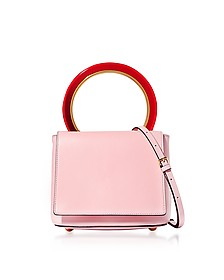 Cinder Rose Leather Pannier Bag - Marni