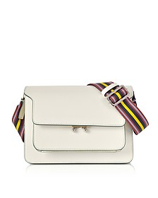 Antique White Leather Trunk Bag - Marni / マルニ