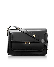 Black Patent Leather Trunk Bag - Marni