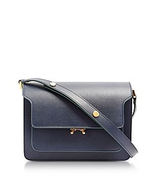 Midnight Blue Saffiano Leather Trunk Bag - Marni