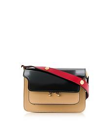 Black, Dune and Tulip Red Patent Leather Mini Trunk Bag - Marni