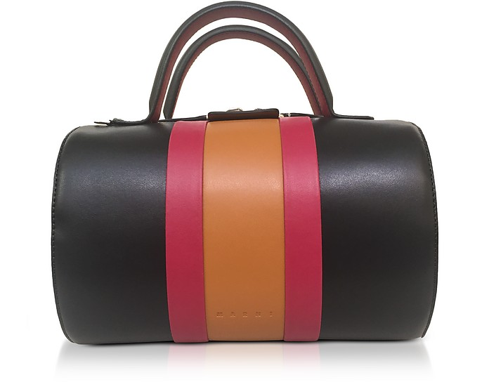 Cinnamon Leather Satchel Bag - Marni