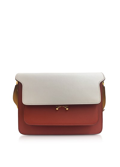 Ice, Rust and Honey Leather Trunk Bag - Marni