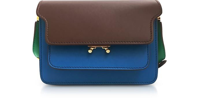 Color Block Leather Mini Trunk Bag - Marni