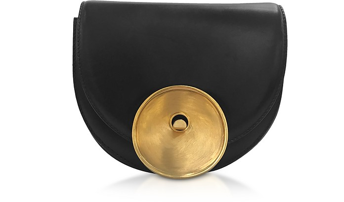 Black Leather Monile Bag - Marni