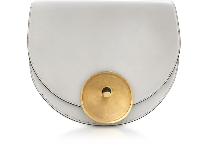 White Lily Leather Monile Bag - Marni