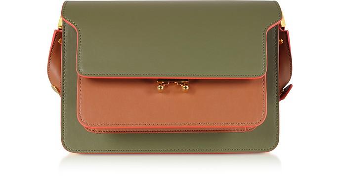 Marni Pants Color Block Leather Mini Trunk Bag