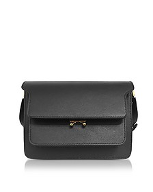 Black Saffiano Leather Trunk Bag - Marni