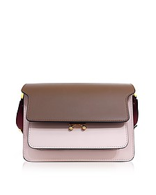 Gold Brown and Quartz Pink Leather Trunk Bag - Marni