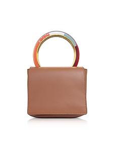 Maroon Leather Pannier Bag - Marni