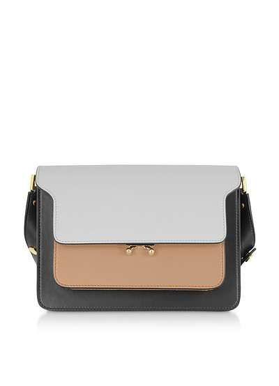 Color Block Leather Trunk Shoulder Bag - Marni
