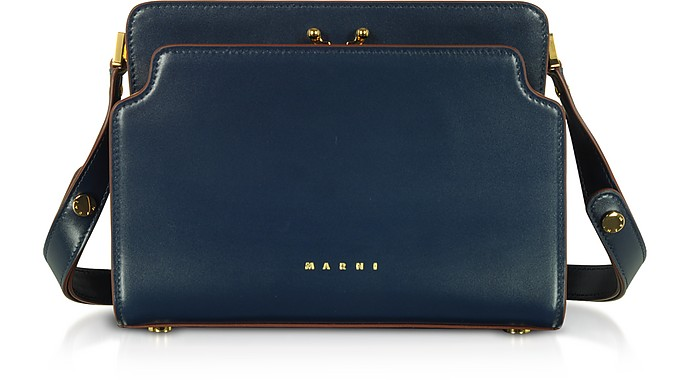 Trunk Reverse Nappa Calf Leather Crossbody Bag - Marni