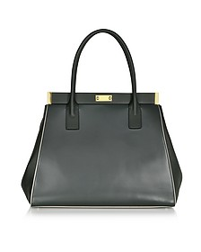 Dark Green Leather Handbag