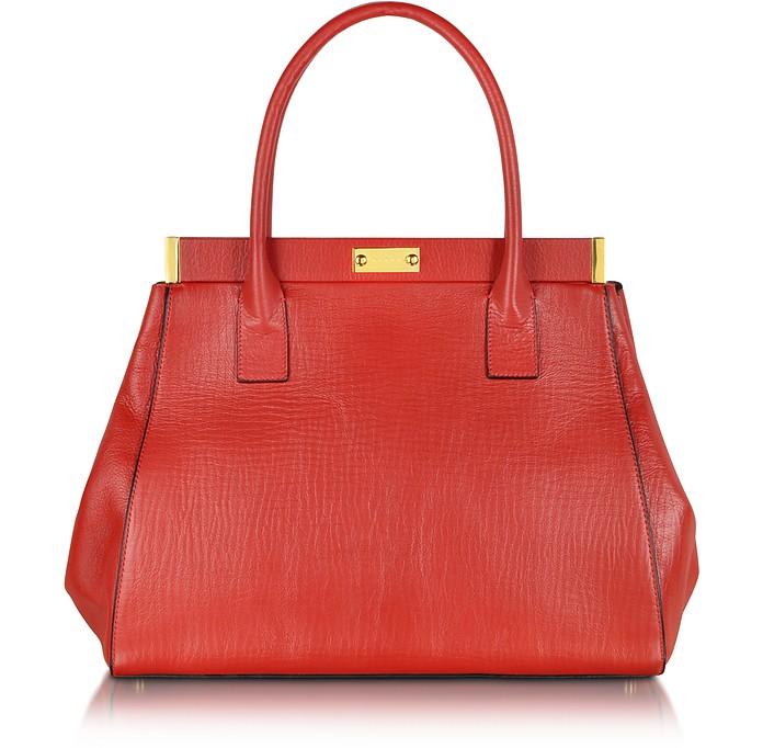 Deep Red Leather Handbag - Marni