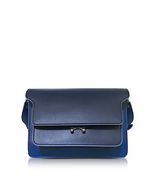 Eclipse Blue Leather Medium Trunk Bag  - Marni