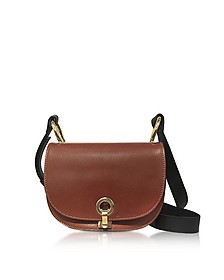 Brown and Gold Leather Minuet Shoulder bag - Marni