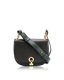 Black and Forest Green Leather Minuet Shoulder Bag - Marni