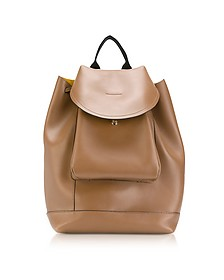 Gold Brown Leather Kit Backpack - Marni