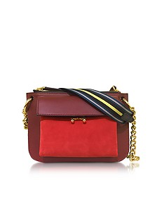 Orange and Burgundy Leather Pocket Bag - Marni