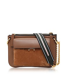 Marron & Gold Leather Large Pocket Bag - Marni