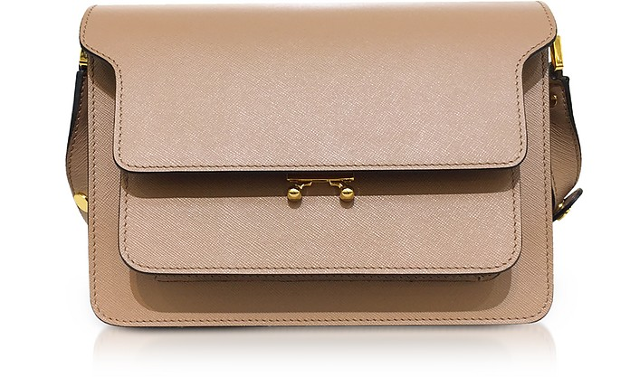 Saffiano Leather TRUNK Shoulder Bag - Marni