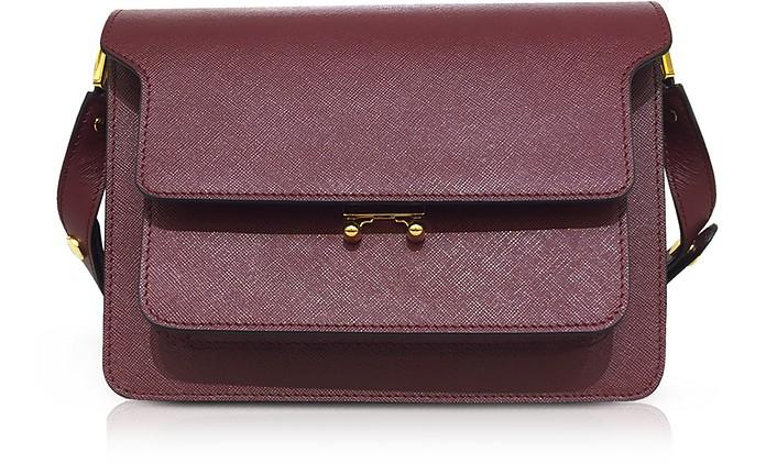 Saffiano Leather Trunk Shoulder Bag - Marni