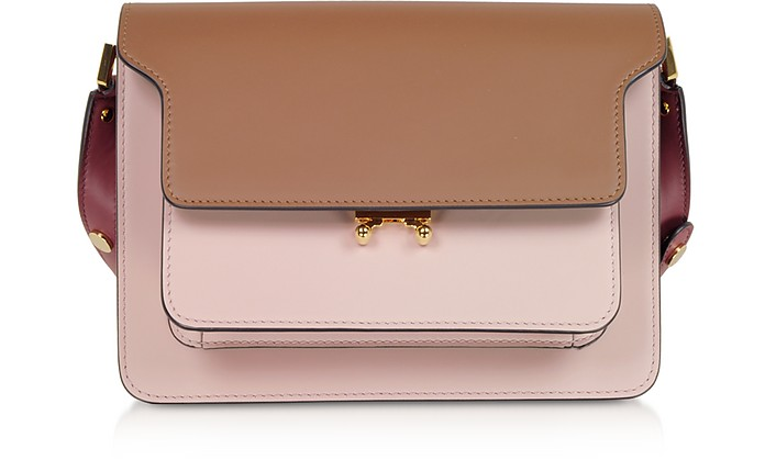 Gold Brown, Quartz and Black Cherry TRUNK Bag - Marni