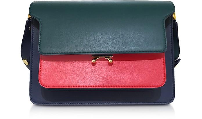 Color Block Calfskin TRUNK Bag - Marni