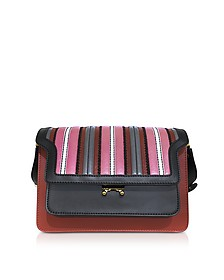 Clay and Black Leather Medium Terra Trunk Bag  - Marni