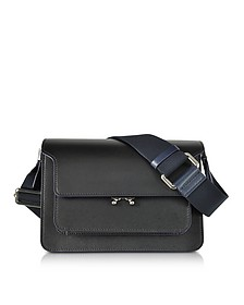 Black and Night Blue Leather Medium Trunk Bag  - Marni