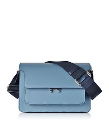 Opal and Night Blue Leather Medium Trunk Bag  - Marni