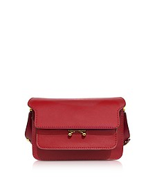 Red Saffiano Leather Mini Trunk Bag - Marni