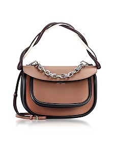 Brown and Dark Orchid Leather Titan Bag - Marni