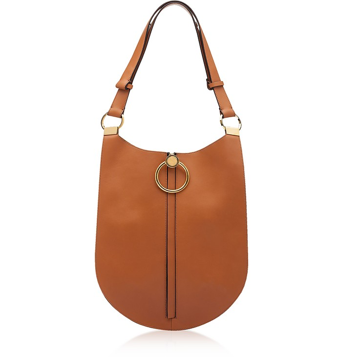 Cinnamon Leather Earring Shoulder Bag - Marni