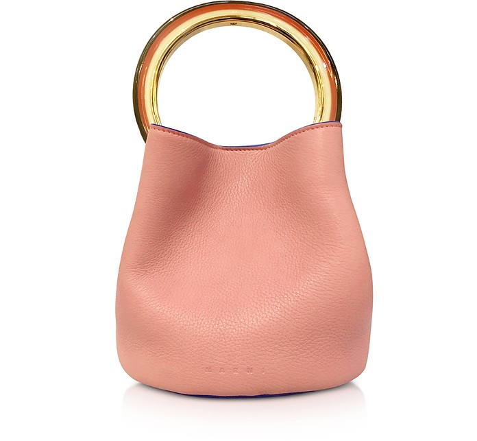 Apricot Leather Pannier Bag - Marni