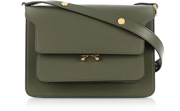Emerald Green Smooth Leather Trunk Shoulder Bag - Marni / マルニ