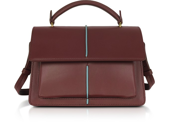 Smooth Leather Top Handle Attaché Bag - Marni