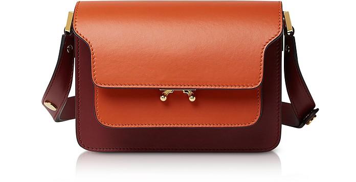 Color Block Leather Small Trunk Bag - Marni