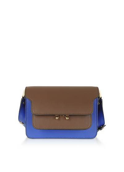 Color Block Leather Small Trunk Bag - Marni