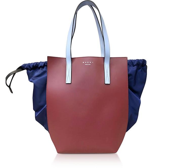 Color Block Leather Tote Bag - Marni / マルニ