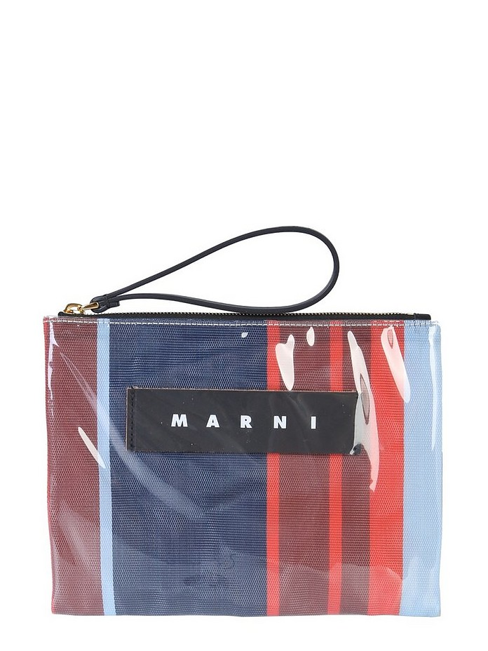 SMALL GLOSSY GRIP POUCH - Marni