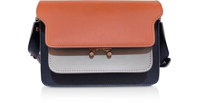 Color Block Leather Trunk Mini Bag - Marni