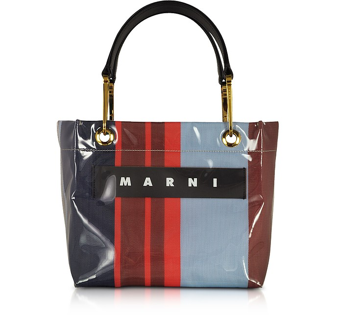 Marni Totes Signature Tote Bag w/ Colorful Stripes