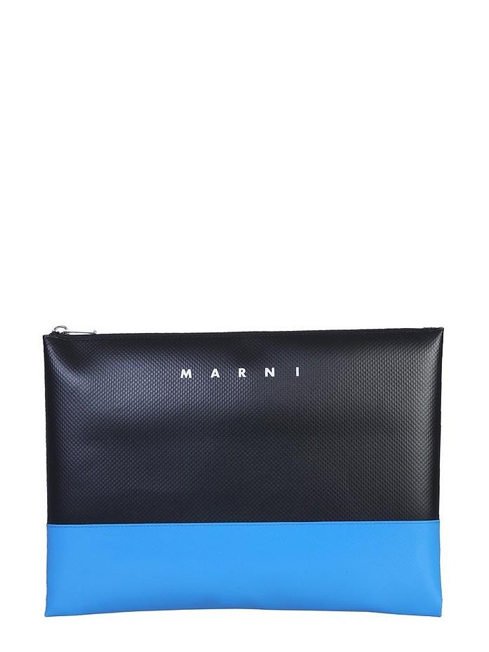 BI-COLORED POUCH WITH LOGO - Marni