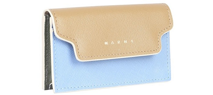 Saffiano Leather Card Holder - Marni