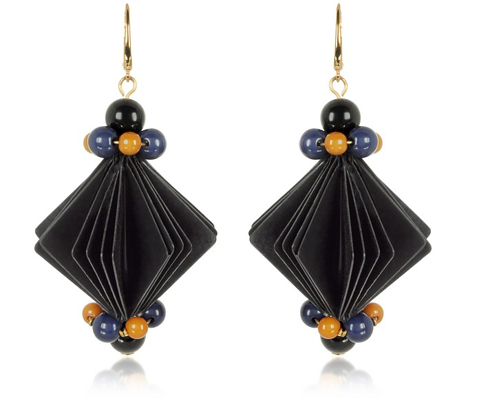 Plastic Earrings w/Beads - Marni